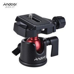 Mini bola Andoer Adaptador de soporte de bola Mini Cabeza de fotografía panorámica con placa de liberación rápida para videocámara sin espejo DSLR en venta