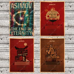 $enCountryForm.capitalKeyWord NZ - Pop Art Retro Sci-fi Movie Asimov Canvas Painting Vintage Wall Picture Kraft Poster Coated Wall Sticker Home Decoration Gift