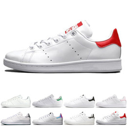 Discount popular running sneakers women - Popular New smith men women stan shoes black white red blue silver pink smith sneakers Casual shoes leathe size 36-44