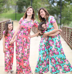 cb7a558536 Mommy Daughter Matching flower Dress Mother and Daughter Stripe Maxi Dresses  flower print Long Dress 9 design KKA6648