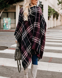 Wholesale casual knit clothing for women resale online - Women Cardigan Contrast Plaid Tassel Knitting Spring New Fashion Casual Outwear Knitted Jacket Coat Loose Sweater Casual Clothes for Female