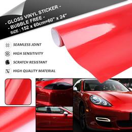 $enCountryForm.capitalKeyWord Australia - 1 Pack Gloss Black White Red Bubble Free Self Adhesive Car Vinyl Film Wrap Sticker 152cm x 60cm