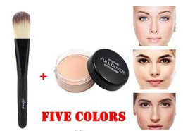 $enCountryForm.capitalKeyWord NZ - Factory Best Face Concealer Cream 1pc Makeup Base Foundation Nude Face Liquid Cover Freckle Pore Oil Control Natural Making Up Powder Brush
