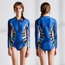 Rash Shirts Australia - Swim Shirt Women Sabolay Bikini Surfing Suit For Swimsuit Long Sleeve One Piece Rash Guard Swimming Spandex Animal Surfing