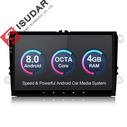 Vw Stereos Android Australia - Isudar Car Multimedia player Android 8.0 GPS 1 Din Stereo For Volkswagen VW POLO PASSAT Golf Skoda Octavia Seat Leon Radio HD