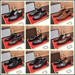 sexy wedding dresses men NZ - 40ss Fashion Luxury 2019 Brand Men Dress Shoes Mens Designer Dress Shoe Sexy Party Wedding Shoe Mens Luxury Sneakers YETC1