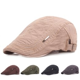Cotton Berets For Women Australia - Adjustable Cotton Beret Caps for Men Women Outdoor Breathable Bone Hats Sun Flat