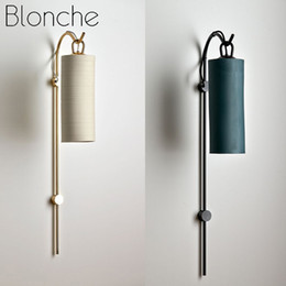 industrial arts Australia - Blonche Nordic Wall Lamp Modern E27 Wall Sconce Fixtures Glass Lights for Home Decor Industrial Lamp Stair Art Loft Luminaire