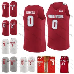 f622d09167d Custom NCAA Ohio State Buckeyes 1 Mike Conley 0 DAngelo Russell 4 Aaron  Craft 5 John Havlicek Lucas Any Name Number College Basketball Jerse
