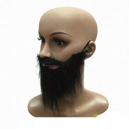 $enCountryForm.capitalKeyWord NZ - Fake Black Beard False Moustache Fancy Dress False Black Beards Halloween Party Masks Prom Props for Cosplay