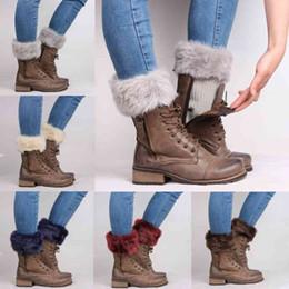 Leg Warmers Faroonee New 2017 Autumn Knit Leg Warmers Women Ladies Winter Faux Fur Crochet Leg Warmers Cuffs Toppers Short Liner Boot Socks