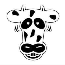 blue cow cartoon Australia - Cow Jdm Style Sticker Shocking Car Accessories Vinyl Personality Accessories Pattern Decals