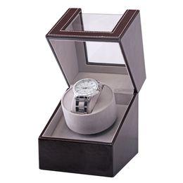 $enCountryForm.capitalKeyWord Australia - Collection Watch Winder Transparent Cover Automatic Mechanical Luxury Display Box Holder Motor Shaker Jewelry US Plug Case