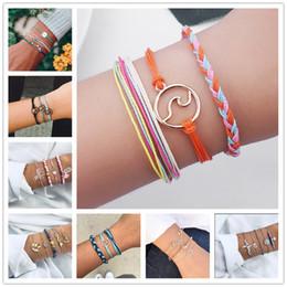 $enCountryForm.capitalKeyWord Australia - Pure Life Hippie Boho Beach Surf Bracelets Handmade Wave Charms Friendship Bracelet Wax String Adjustable Bracelets&bangle