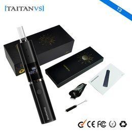 Hid Pen Australia - Taitanvs T3 kit dry herb vaporizer vape pen 1200mAh glass heating element hidden OLED display than hebe titan vape mod