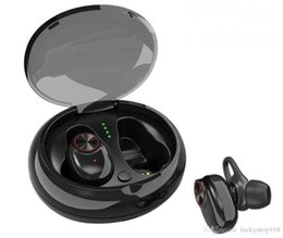 Iphone V5 Australia - Bluetooth Headphone With Mic Charging Box V5.0 Headset EDR Stereo Sound V5 Dual Wireless Earphone Handsfree Stereo Music Calling TWS Earbuds