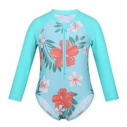 $enCountryForm.capitalKeyWord UK - FEESHOW Toddler&Infant Baby Girl Swimwear Long Sleeve Floral Sun Suit Kids Swimsuit Children One Piece Bathing Suit 2019 Summer
