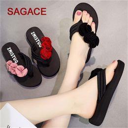 $enCountryForm.capitalKeyWord Australia - HB@wholesale Ladies Slippers Summer Fashion Women's Flower Clip Toe Flip Flops Non-Slip Wedges Beach Slippers Zapatos De