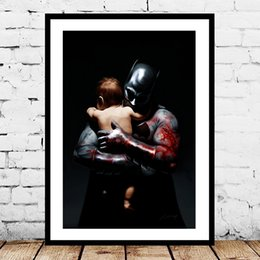 Hero Paintings Australia - Super Heroes Batman Son Of The Demon Marvel Wallpaper Art Canvas Poster Painting Wall Picture Print For Home For Living Bedroom Decoration