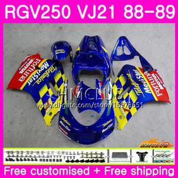 fairing 1989 Australia - Bodys For SUZUKI SAPC RGV 250 VJ21 RVG250 RGV250 88 89 90 91 92 93 17HM.12 RGV-250 VJ22 1988 1989 1990 1991 1992 1993 Fairing Movistar red