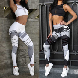 Black Workout Leggings Wholesale Australia - WWomen Sports Gym Yoga Workout Mid Waist Running Pants Fitness Elastic Leggings W0314