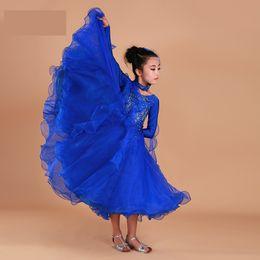 10441a716 Dancing Dresses Australia - Luxury rhinestone girls Embroidery pendulum  standard ballroom dance dress children tango flamenco