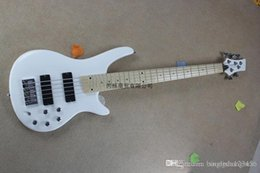 New Electric Guitar Brands Australia - Free shipping 2014 new brand Banjo classic white sandwich active pickups neck electric bass guitar xiexie