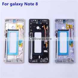 sim card tray for note NZ - New for Samsung galaxy Note 8 N950 Middle Frame Midplate Bezel Chassis Housing with Side Button SIM Card Tray Set