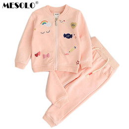 Clouds Jacket Australia - good quality autumn period and the type of girl Rainbow cloud embroidered long-sleeved jacket + pants, sports suits a undertakes C1