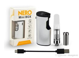 connection box NZ - Original Nero mini Preheat box vape kit VV 650mah Push button battery with TH205 tank magnetic connection thread portable E-cig kit