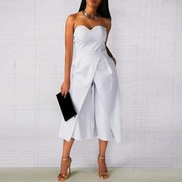 $enCountryForm.capitalKeyWord Australia - Summer Women Rompers Ladies Sexy Clothes Off Shoulder One Piece Pants Elegant Black White Office Work Jumpsuit Y19060501
