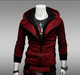 Wholesale assassins creed hoodies free shipping online – oversize NEW Assassin s Creed Desmond Style Velour Hoodie