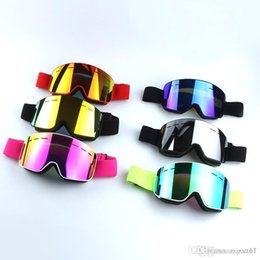 Colors Goggles Ski Australia - New Ski Goggles 6 colors Cylinder Double-Layer Anti-fog glasses Snow Sport Protective Gear