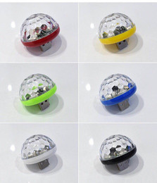 $enCountryForm.capitalKeyWord Australia - Voice control small magic ball lamp RGB mobile phone android apple usb crystal magic fan you lights car DJ stage lights