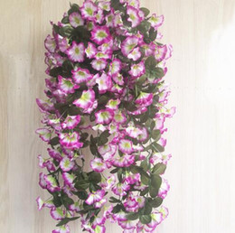 $enCountryForm.capitalKeyWord Australia - one Morning Glory Vines Hanging Vine Flowers with wall vase for Wedding Artificial Decorative Wall Hanging Flower 5 Colors