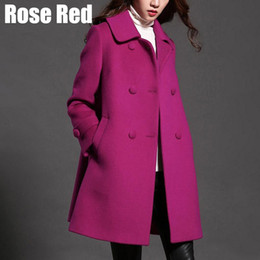 85b5543e1a1 Plus Size Womens Wool Coat Clothing Warm Winter Wool Jackets Female Thick  Outerwear 2017 New Free Shipping