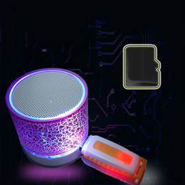 free music for samsung phones Canada - Portable Mini Bluetooth Speakers Wireless Hands Free Led Speaker Tf Usb Fm Sound Music For iPhone X Samsung Mobile Phone Bluetooth Device A4