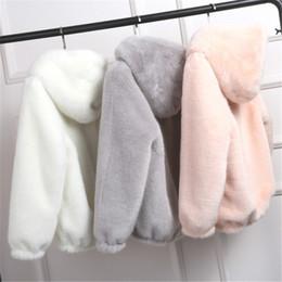 $enCountryForm.capitalKeyWord Australia - New Faux Fur Coat With Hood High Waist Fashion Slim Black Red Pink Faux Fur Jacket Fake Rabbit