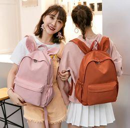 $enCountryForm.capitalKeyWord Australia - Lovely Rabbit Ear Waterproof Nylon Backpack High Quality Bow Women Backpack Female Korean style Schoolbag Travel Mochilas