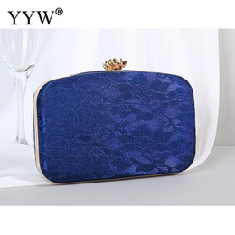 white lace evening bag Australia - Designer-Pink Satin Women Clutch Purse Female Fashion Lace Floral Shoulder Bags And Handbags Black Blue Party Evening Bags Bolsa Feminina
