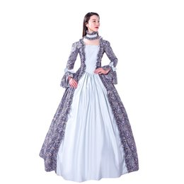 $enCountryForm.capitalKeyWord NZ - Women's Adults' Victorian Rococo CostumeVintage Cosplay Flocked Long Sleeves Bell Ankle Length party dress