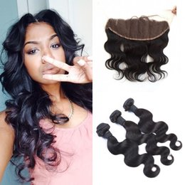 $enCountryForm.capitalKeyWord Australia - Factory Price Lace Frontal Closure Body Wave With 3 Bundles Natural Color Can Be Dyed Unprocessed Human Hair In Stock LaurieJ Hair