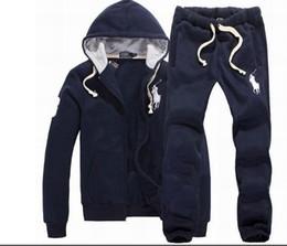 Horse Suit NZ - 2019 Men's Hoodies and Sweatshirts Sportswear Man Polo Jacket pants Jogging Jogger Sets Turtleneck Sports Big horse Tracksuits Sweat Suits
