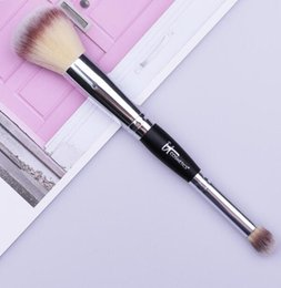$enCountryForm.capitalKeyWord Australia - Double Ends Makeup Brushes Powder Eyeshadow Blush Brush Make Up Contour Synthetic Hair Cosmetic Brush Kit Beauty Tool GGA1912