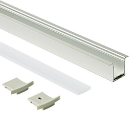 Ingrosso 23.1x27.3mm Alloggiamento del profilo in alluminio a led per montaggio superficiale ed estrusione di profilo a T con copertura lattea per PC per lampada da parete a soffitto o incasso