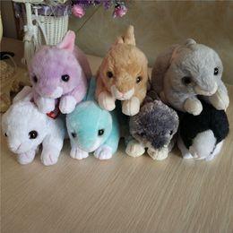 fa66700ab10 20170601 Lilac Nibbler Checkers Smokey Bunnie Cotton Rabbit White Bunny TY  Beanie Babies 12CM Plush Toys