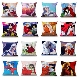 japanese cartoon anime adult Australia - Humor Comics Japanese Cartoon Anime Inuyasha Single Side Printed Polyester Throw Pillow Cover Car Cushion Cover Home Decor Pillowcase