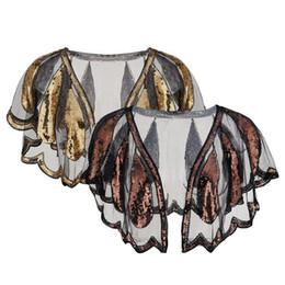 $enCountryForm.capitalKeyWord UK - Women s 1920s Shawl Wrap Art Deco Sequin Beaded Party Cape Bolero Open Front Scalloped Hem Flapper Cover Up Golden Cardigan