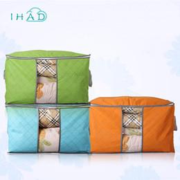 Beds Quilts Australia - Dustproof Clothes storage bag Wardrobe organizer Folding bag For Bedding Pillow Quilt Organizer Blanket Closet Moisture-proof