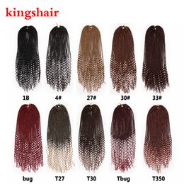 $enCountryForm.capitalKeyWord Australia - 20 inch Faux Locs Curly Crochet Hair 24 Strands Ombre BUG Brown Synthetic Crotchet Braids Hair Extensions for Black Women